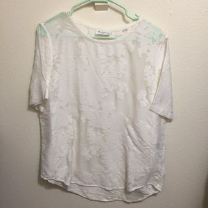 Equipment Tops - New Equipment Floral Burnout Riley Tee